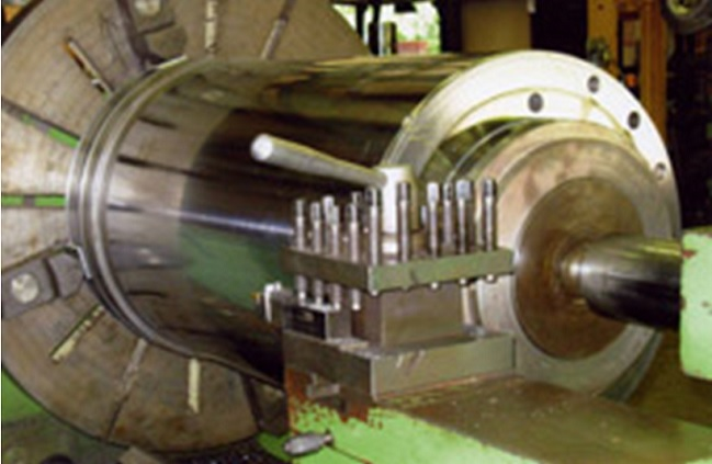 Machine part in lather